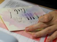 Einhorn-Karte für die Tochter